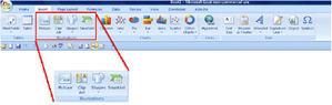 screenshot insert ribbon chart