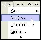 Install Excel Addin from Menu