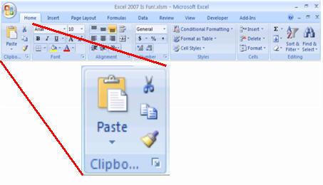 screenshot_home ribbon_clipboard